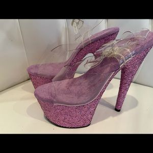 New Lavender Pleaser Heels Size 7
